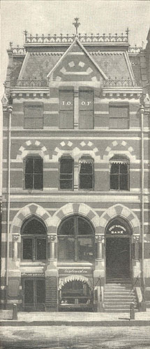 First building of the First National Bank