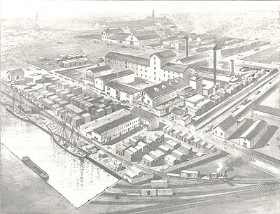 site of both companies in 1892