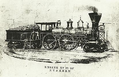 edging of Engine No.27 of N.Y. & N.H.R.R.