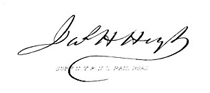 signature of James Henry Hoyt