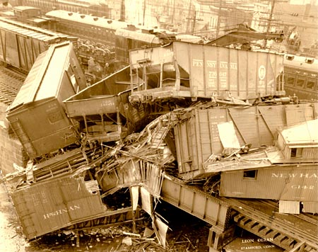 Train Wreck on Atlantic Street Bridge April 30, 1935
