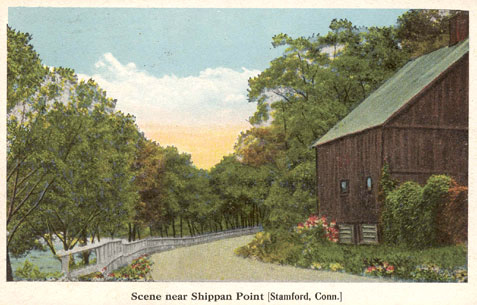 Postcard titled 'Scene near Shippan Point'