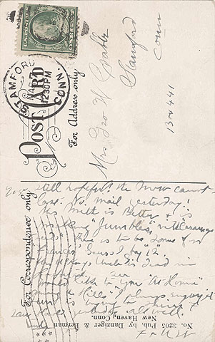Reverse side of postcard shown at left.