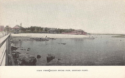 undated postcard, view form Ocean House pier.