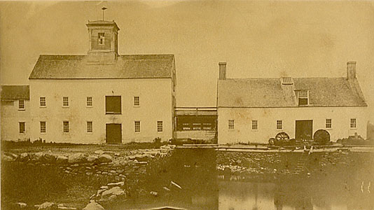 The old mill on Cove Pond