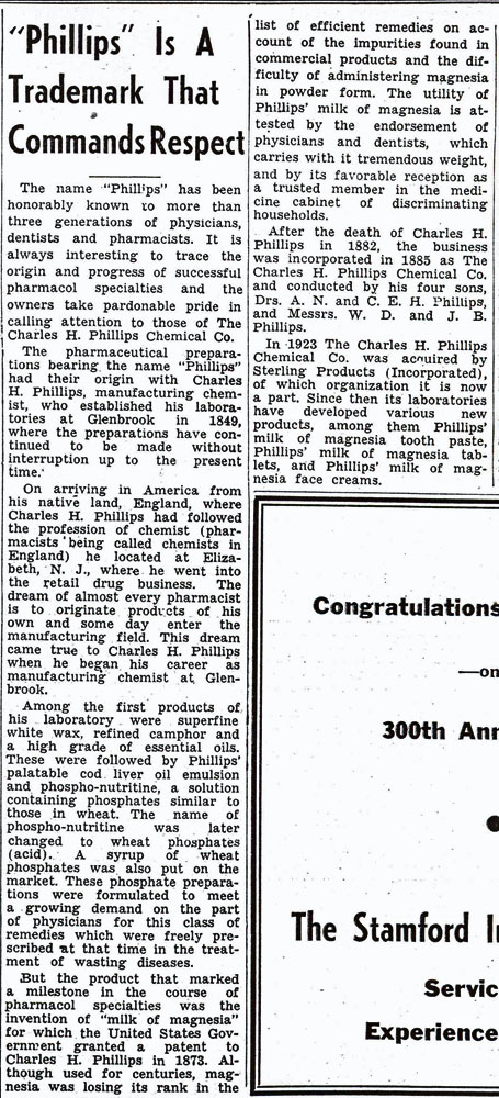 1941 newspaper article on the Phillips Chemical Company