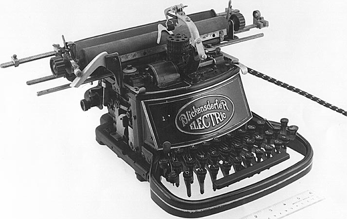 large photo of first electric typewriter