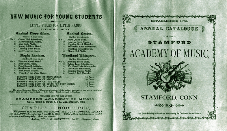 1880 Stamford Academy of Music School brochure