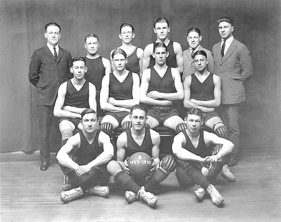 Michael Boyle with the 1922 Basketball Team