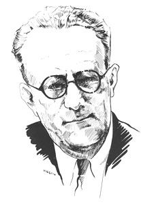 sketch of Michael Boyle from a photo