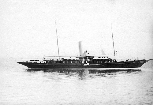 the yacht Christabel, painted black