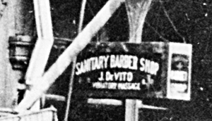 Sanitary Barbershop sign
