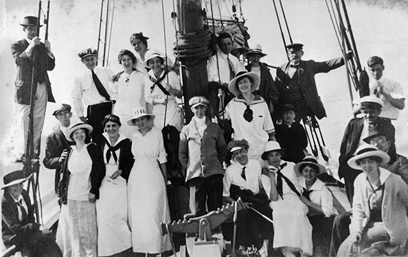 Out for a sail, circa 1915