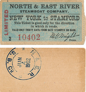 New York to Stamford ferry ticket
