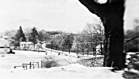 Looking down High Ridge Road from Elbert Jone's house - the first house is Cortland Jones'