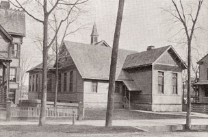 King School on Bedford Street, circa 1892