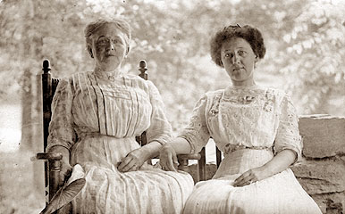 Mrs. J.C. Reynolds and and her mother