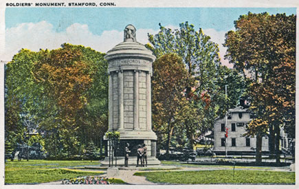 undated postcard of the monument