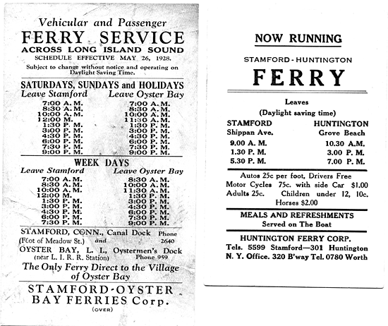 ferry schedules