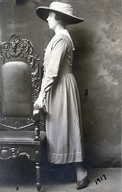 Margaret Weed on her wedding day, 1917