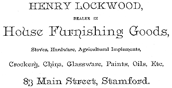 Ad for Henry Lockwood business, 1892