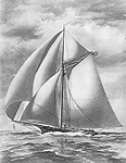 Sloop Yacht 'Pocahontas', click for larger image