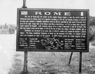 guide post and map of Rome for the soldiers