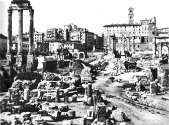 what is left of the Roman Forum